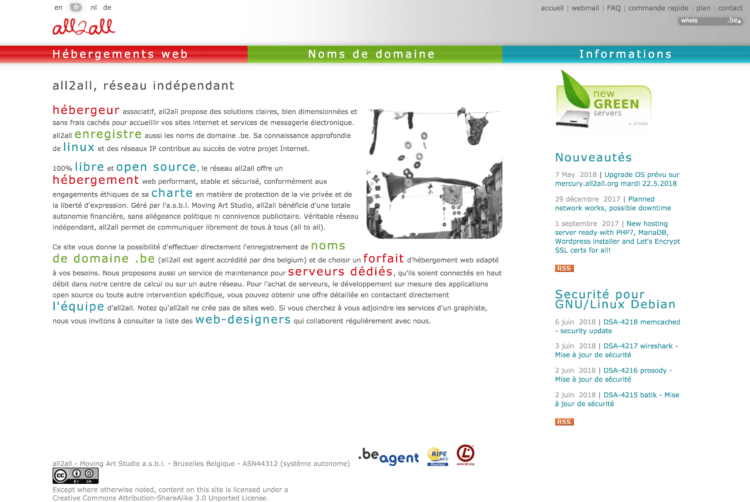 all2all hébergeur web belge