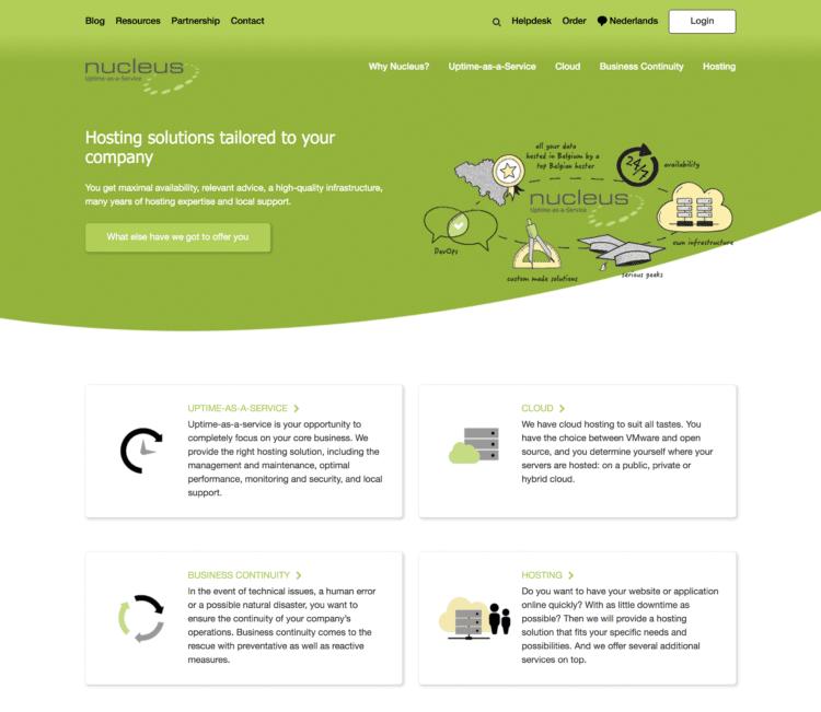 nucleus hébergeur web belge