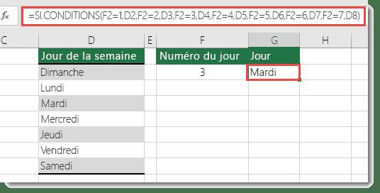 fonction IFS de MS Excel