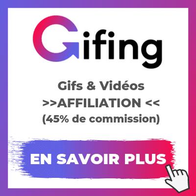 Découvrir le programme d'affiliation Gifing