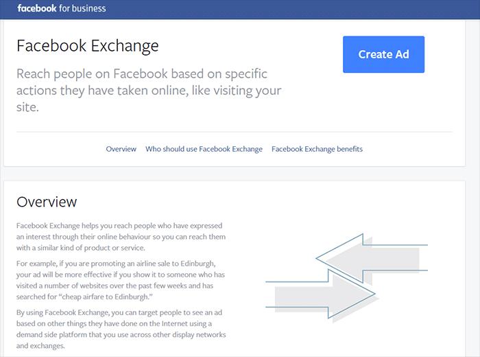 Facebook exchange créer